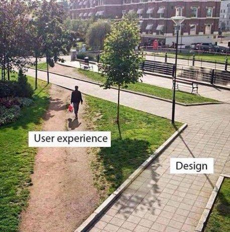 User experience v design